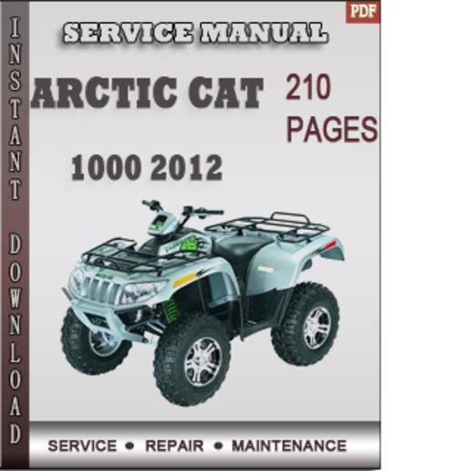 arctic cat service manual 2012