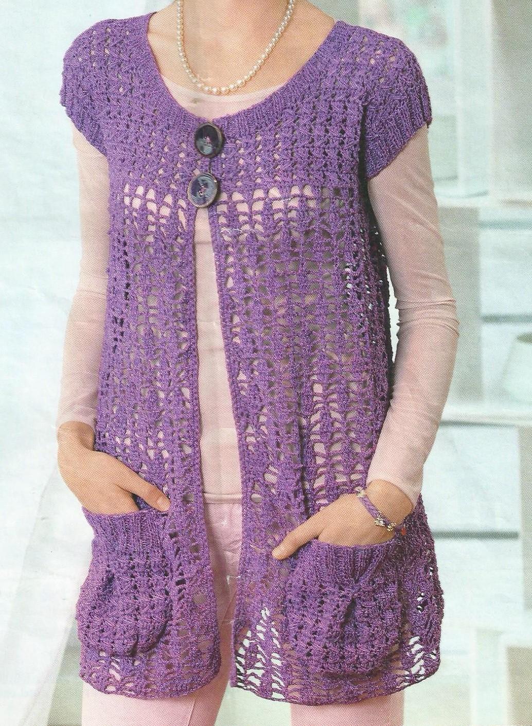 modele de veste tricotate manual pentru copii
