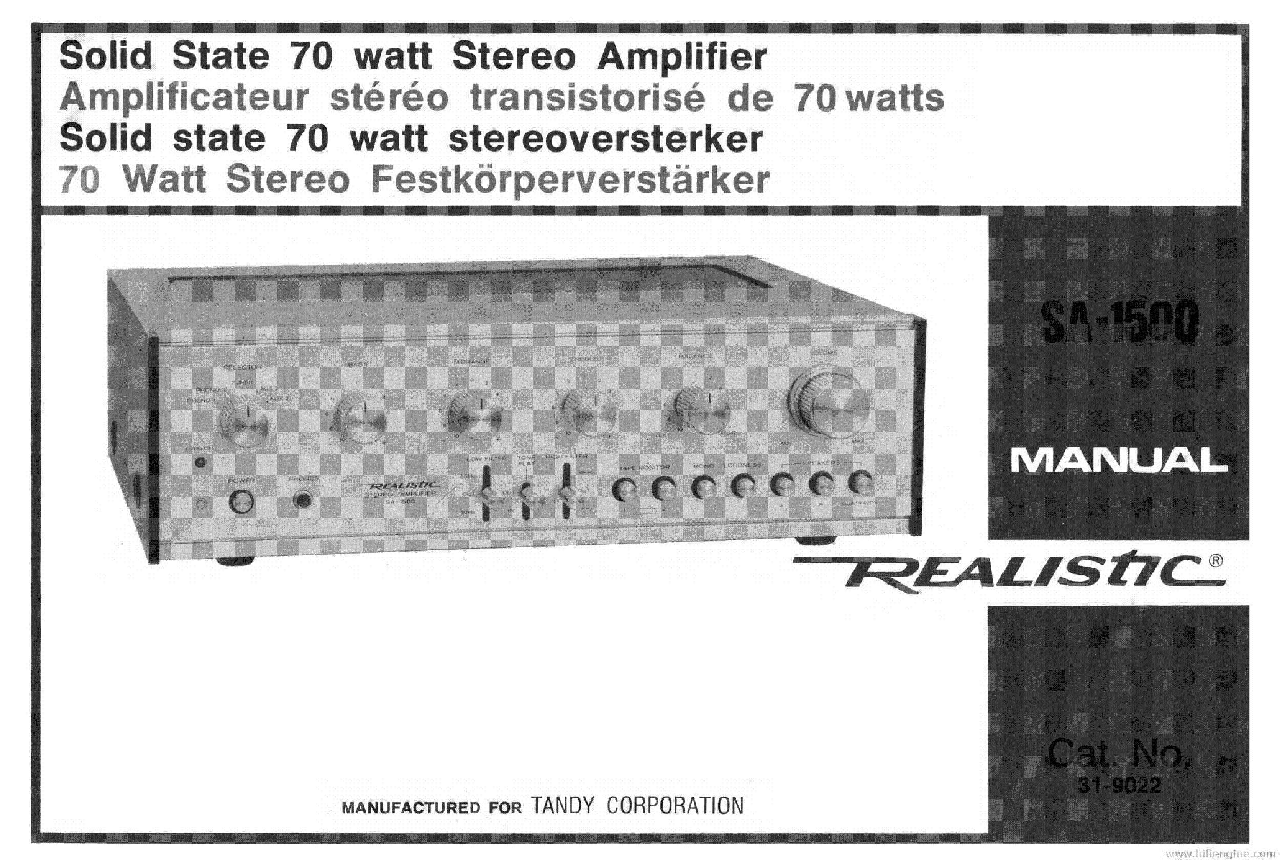 realistic mpa-20 amplifier manual services