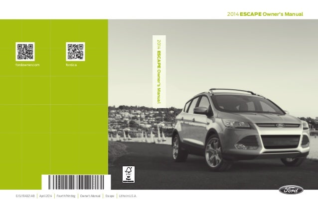 2014 ford escape radio manual