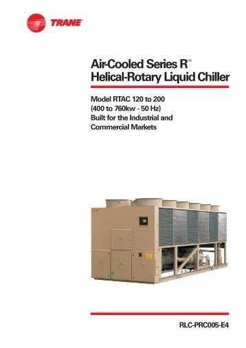 trane screw chiller maintenance manual