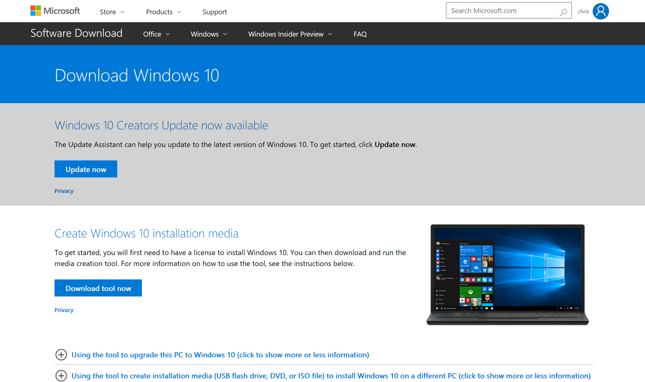 configure windows 10 download update manually