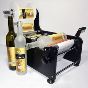 how to built a manual bottle labeler