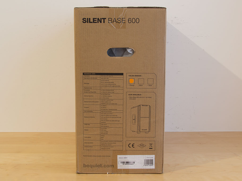 silent base 600 be quiet manual
