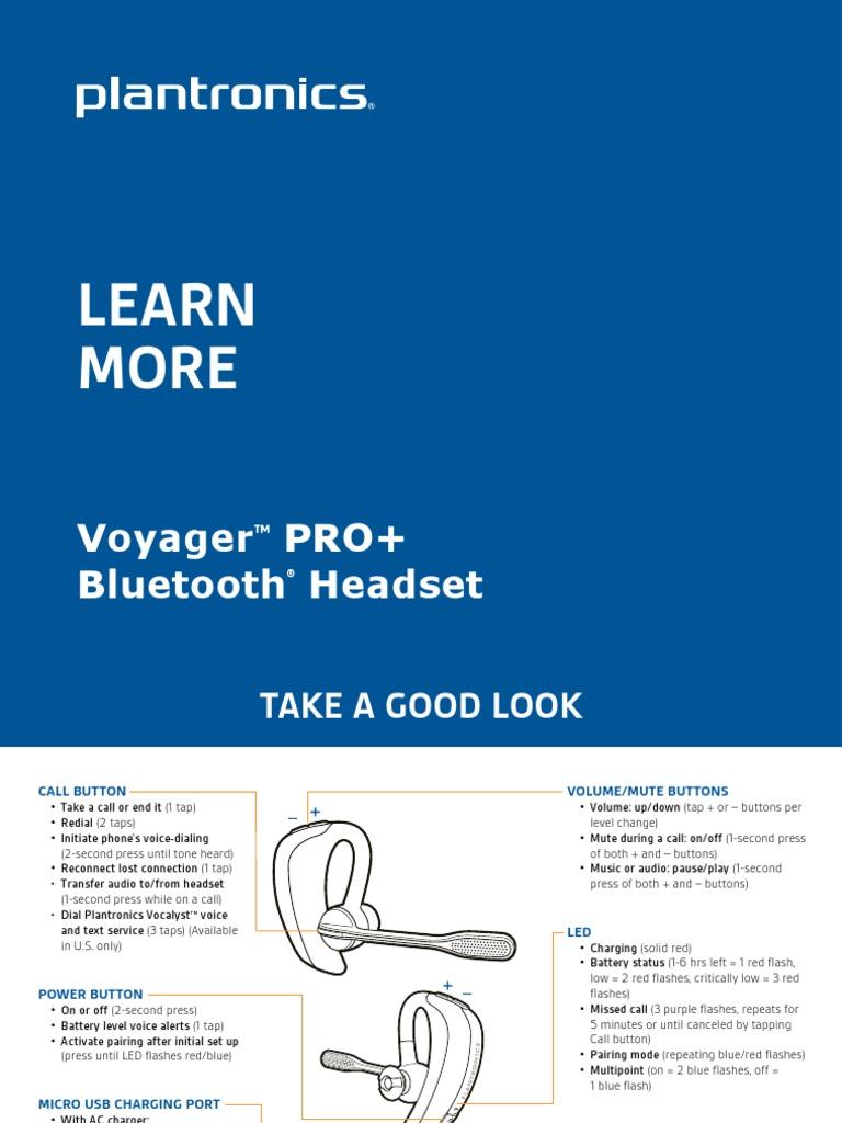 plantronics m100 bluetooth headset manual