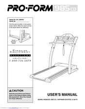 proform 910 zlt treadmill manual