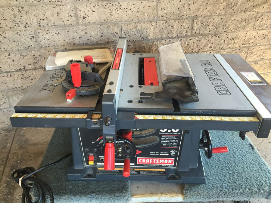 craftsman electric 10 table saw model 62817 manual
