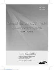 samsung crystal surround air track manual hw d450
