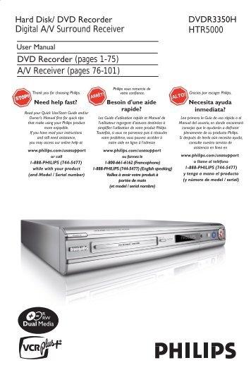 philips divx dvd recorder manual