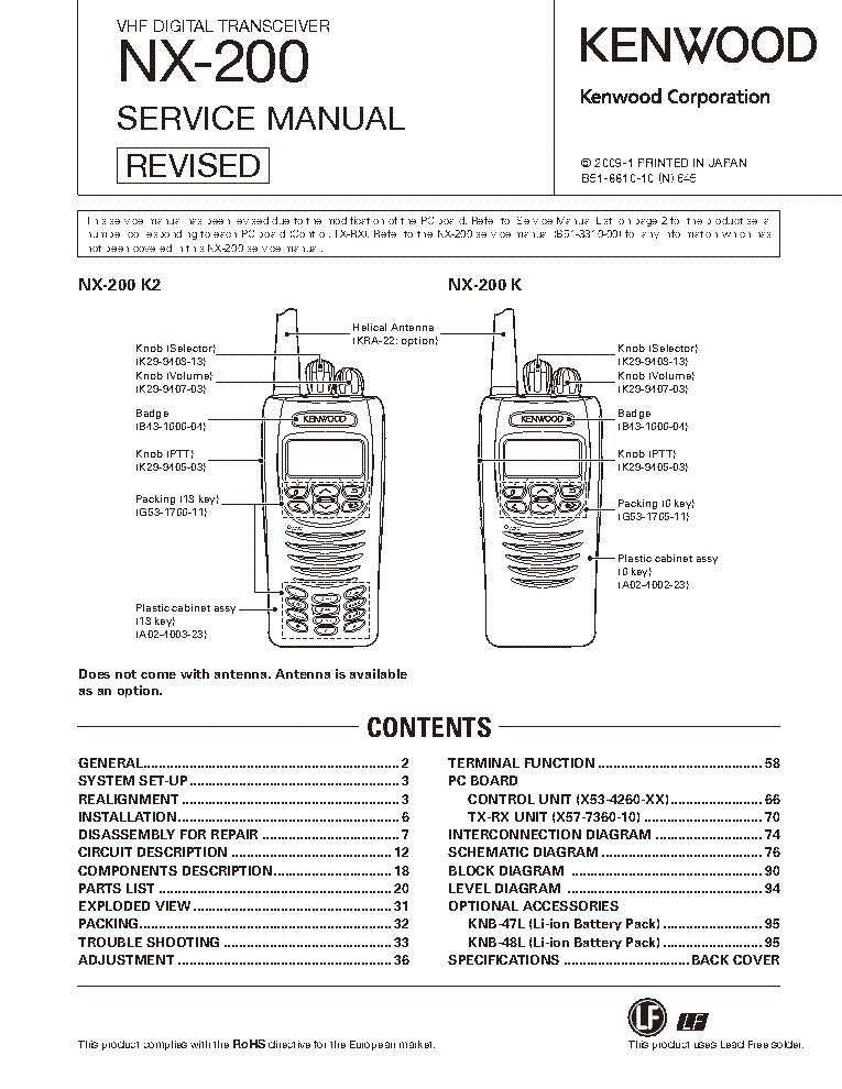 kenwood tk-7102 service manual