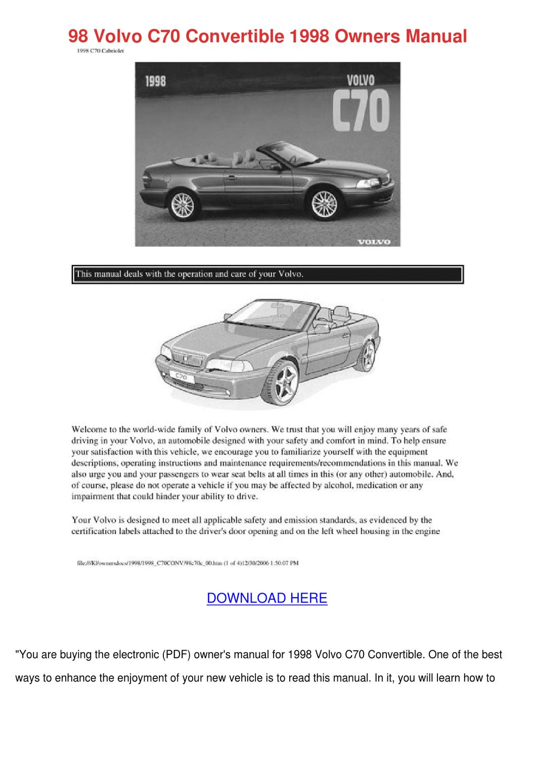 2005 volvo s60 repair manual download
