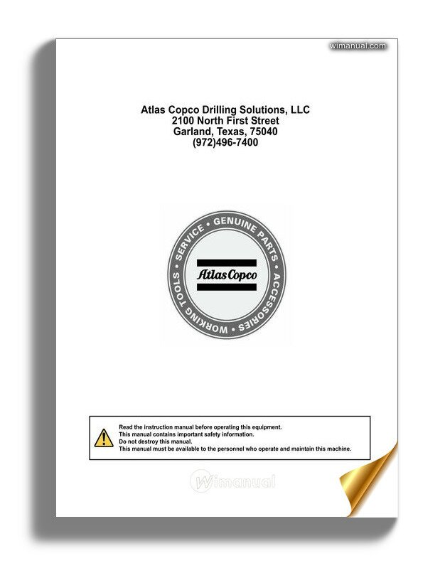 atlas copco qas 45 parts manual