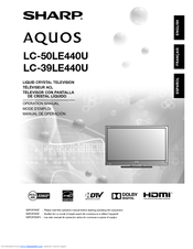 sharp aquos lc-60le661u manual