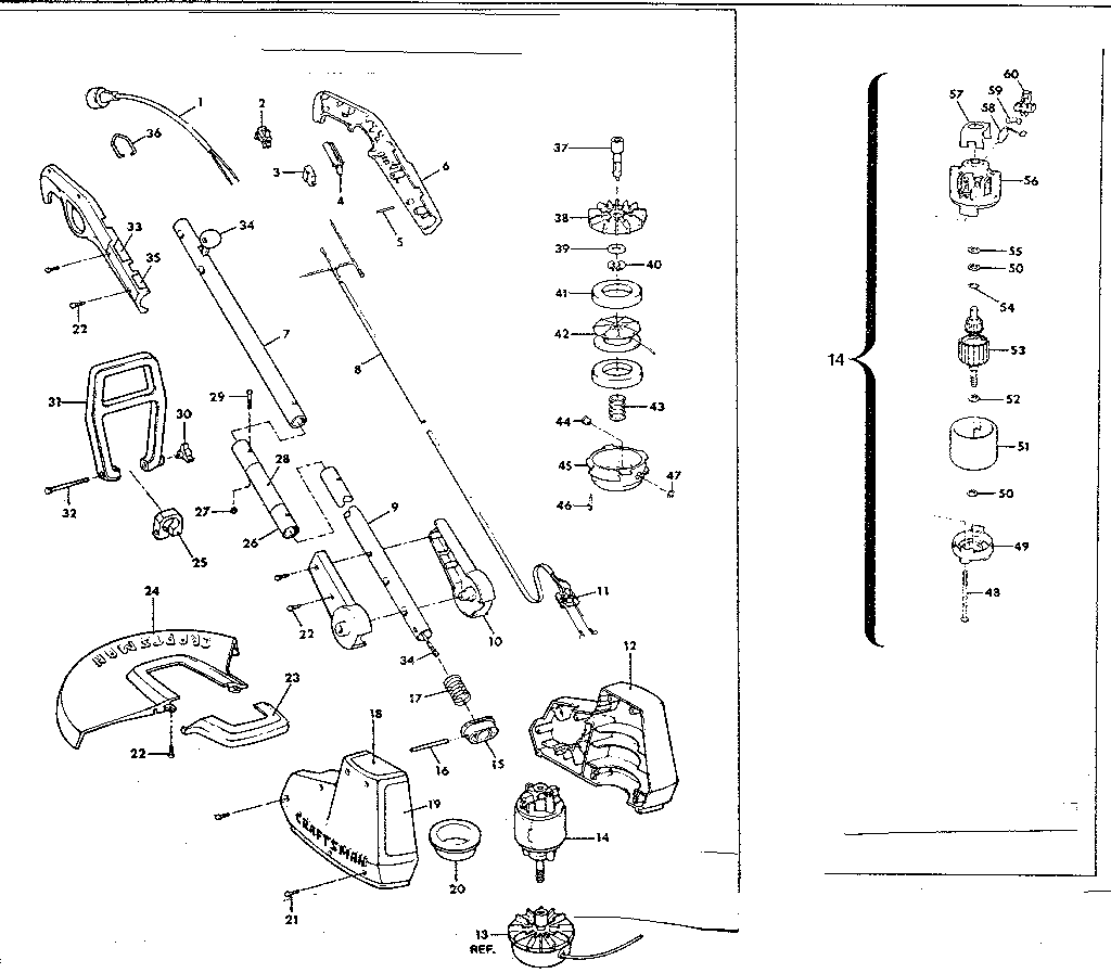 craftsman weed eater model 944.511461 manual