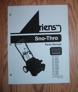 ariens sno thro 522 manual