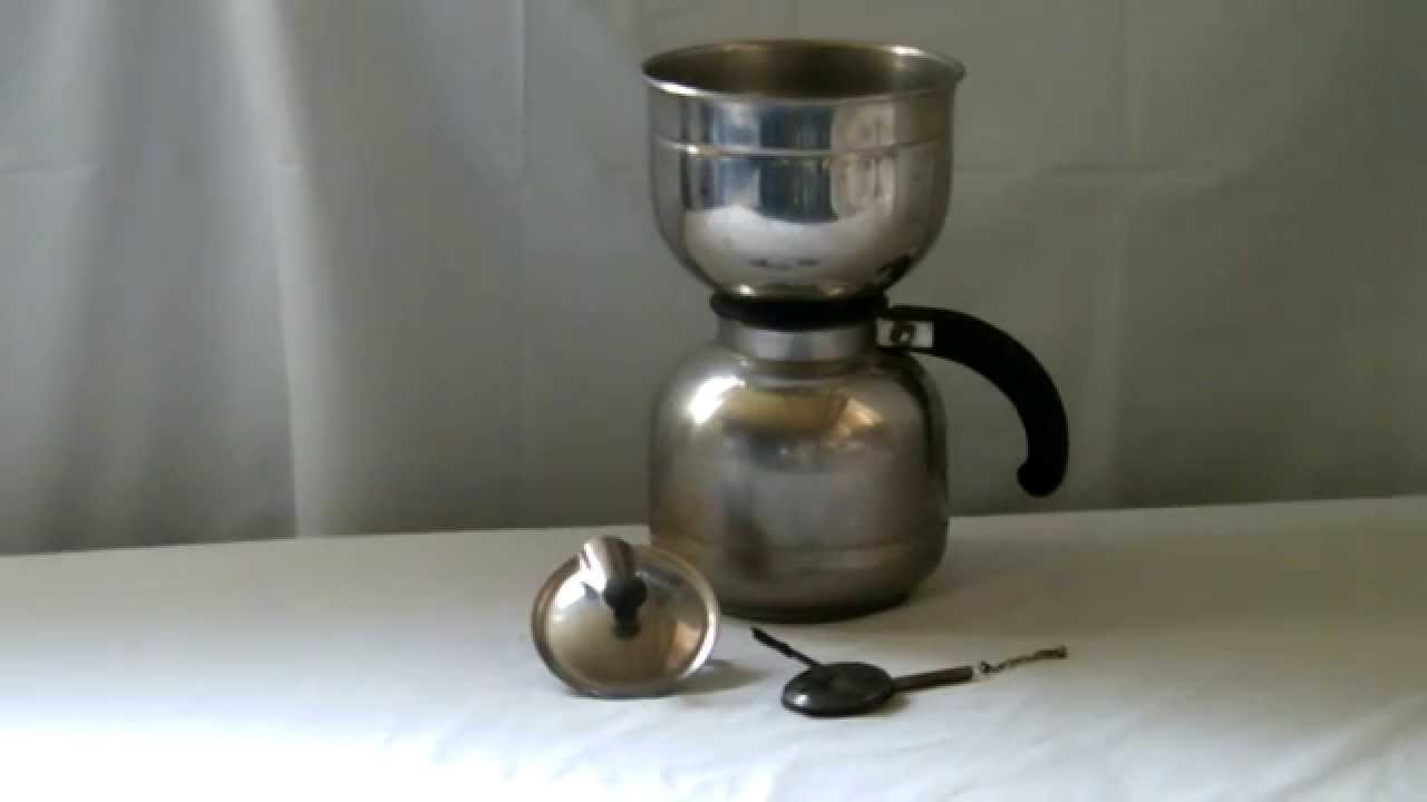 how to use a vintage manual coffee maker