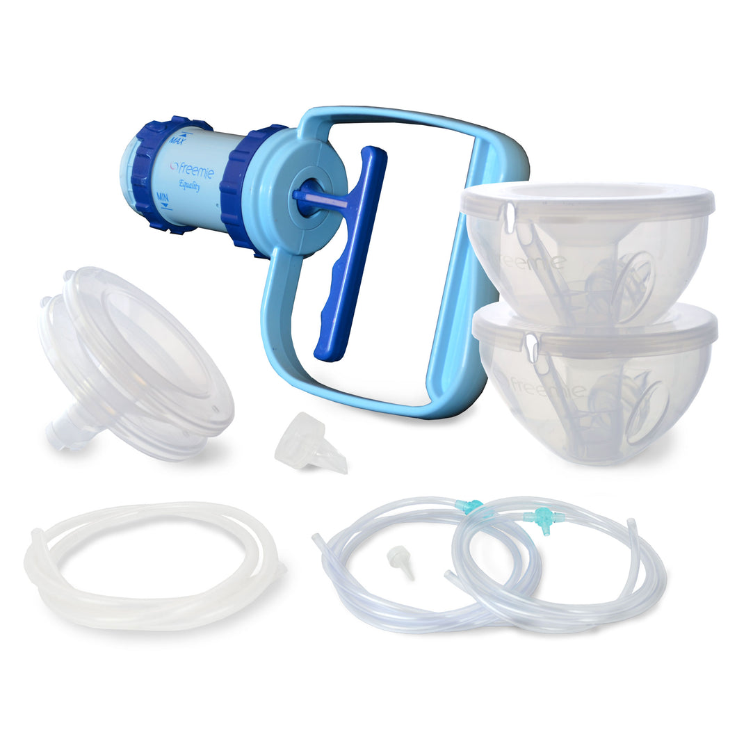 how to use manual ameda breast pump
