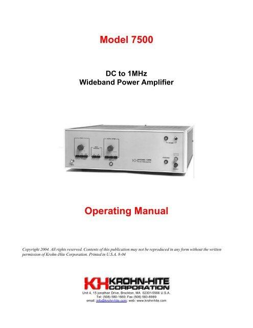 linear copr model mdtk manual