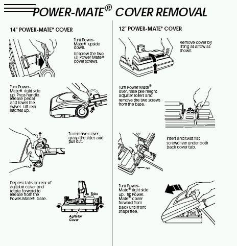 manual kenmore 11.0 vacuum with power mate