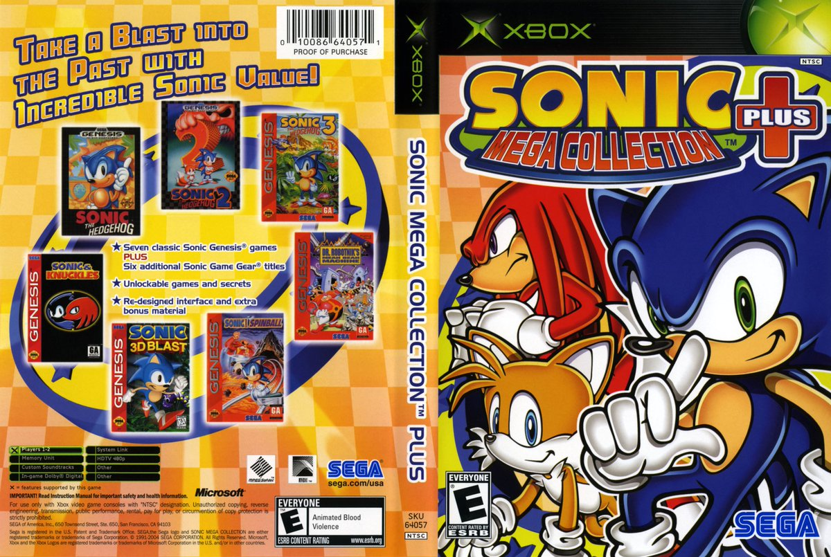 sonic mega collection plus manual