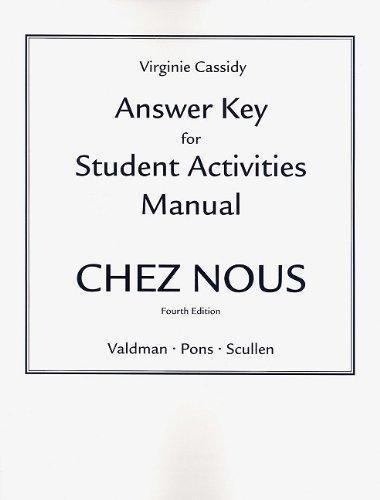 valdman albert student activities manual online