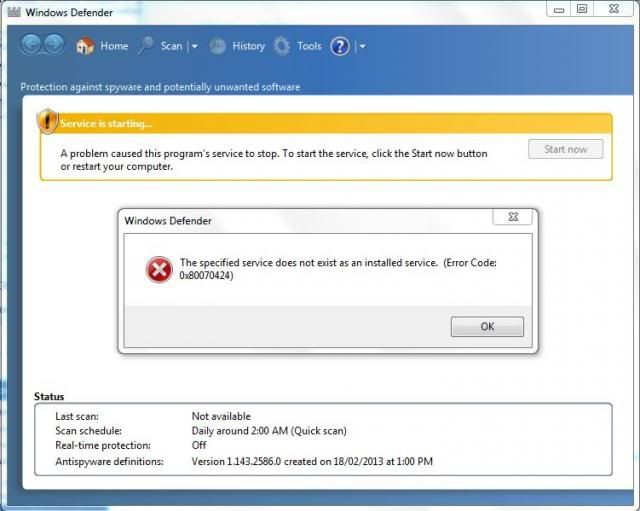 windows 7 manual update not working